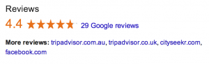 screenshot thumbnail of Google My Business listings rating