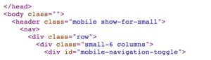 screenshot thumbnail of html code