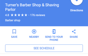 Google my business book now button