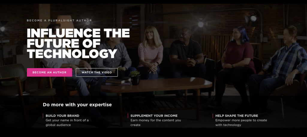 pluralsight home page screenshot