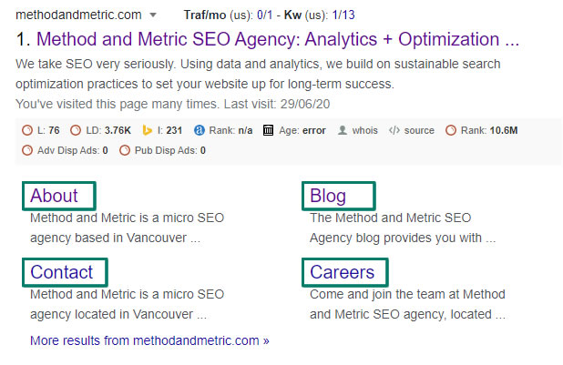 sitelinks searchbox example in the google search results